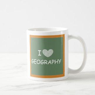Amo la geografía taza