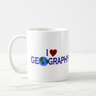 Amo la geografía taza clásica