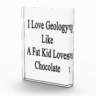 Amo la geología como un chocolate de los amores