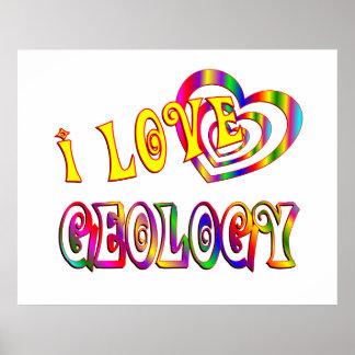 Amo la geología posters