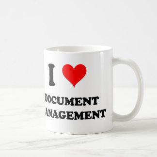 Amo la gestión de documentos taza