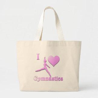 amo la gimnasia #6 bolsa de tela grande