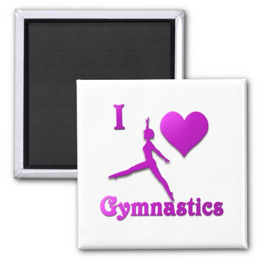 amo la gimnasia #8 imán para frigorífico