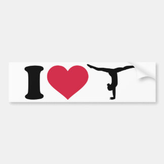 Amo la gimnasia pegatina para auto