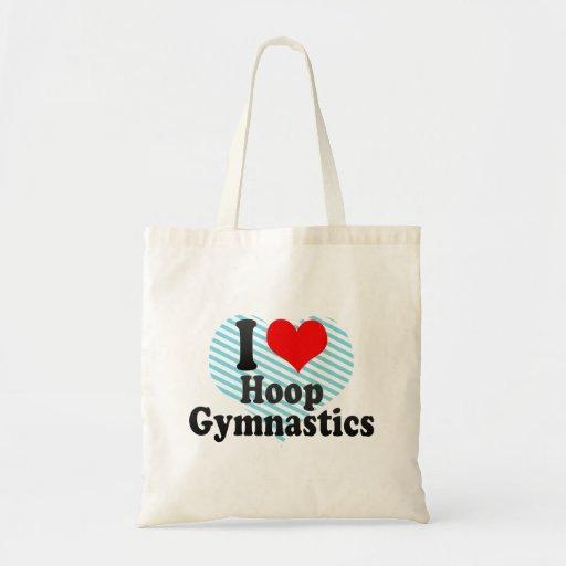 Amo la gimnasia del aro bolsa tela barata