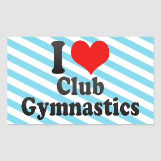 Amo la gimnasia del club rectangular altavoz