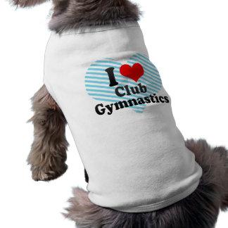 Amo la gimnasia del club playera sin mangas para perro