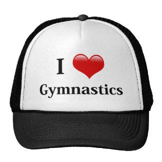 Amo la gimnasia gorro de camionero
