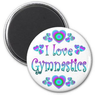 Amo la gimnasia imán redondo 5 cm