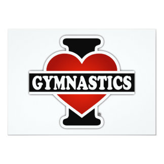 """Amo la gimnasia invitación 5"""" x 7"""""""