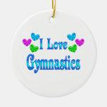 Amo la gimnasia ornaments para arbol de navidad