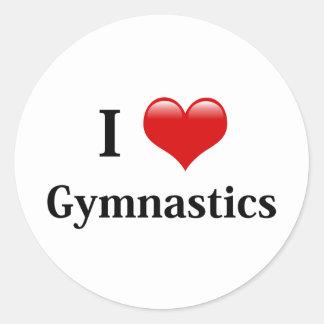 Amo la gimnasia etiquetas