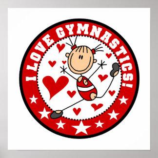 Amo la gimnasia posters