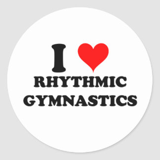 Amo la gimnasia rítmica pegatina redonda