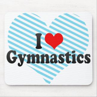 Amo la gimnasia tapetes de ratón