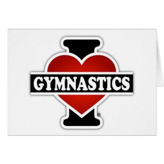 Amo la gimnasia tarjeta de felicitación