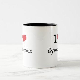 Amo la gimnasia tazas de café