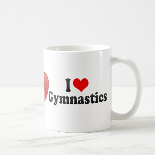 Amo la gimnasia taza básica blanca
