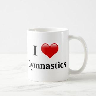 Amo la gimnasia taza de café