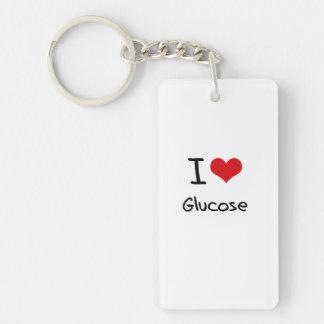 Amo la glucosa llaveros