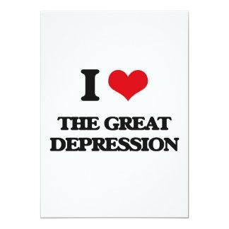 """Amo la Gran Depresión Invitación 5"""" X 7"""""""