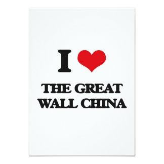 """Amo la Gran Muralla China Invitación 5"""" X 7"""""""