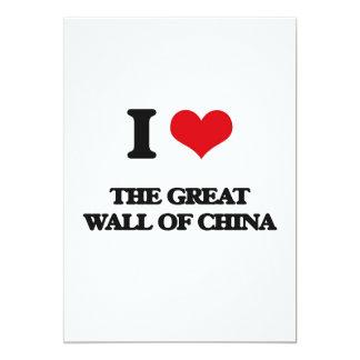 """Amo la Gran Muralla de China Invitación 5"""" X 7"""""""
