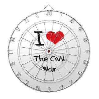 Amo la guerra civil tablero dardos