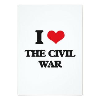 Amo la guerra civil invitación 12,7 x 17,8 cm