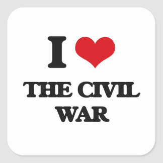 Amo la guerra civil pegatina cuadrada
