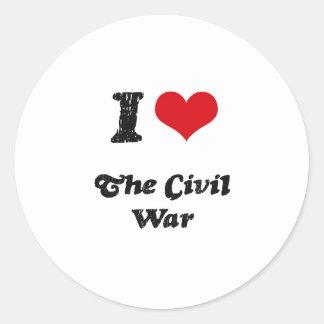 Amo la guerra civil pegatinas redondas