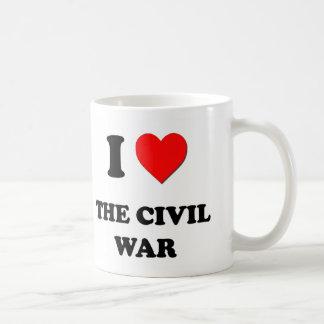 Amo la guerra civil tazas de café