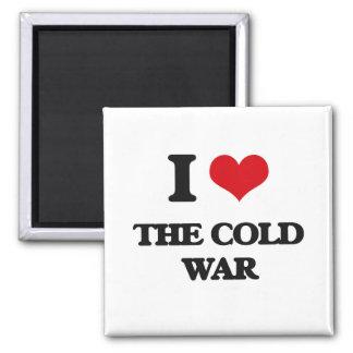 Amo la guerra fría imán cuadrado