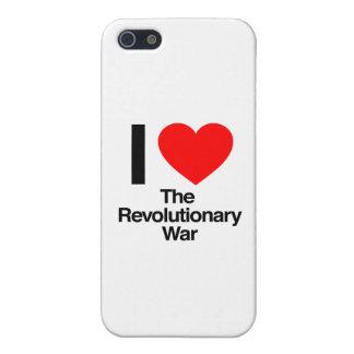 amo la guerra revolucionaria iPhone 5 protectores