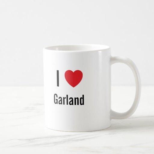 Amo la guirnalda tazas de café