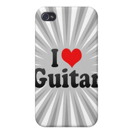 Amo la guitarra iPhone 4 carcasas