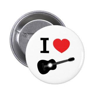 Amo la guitarra pin