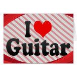 Amo la guitarra tarjeta