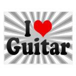 Amo la guitarra tarjeta postal