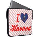 Amo La Habana, Dakota del Norte Funda Ordendadores