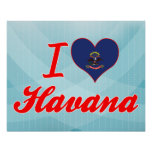 Amo La Habana, Dakota del Norte Posters