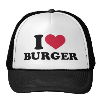Amo la hamburguesa gorros