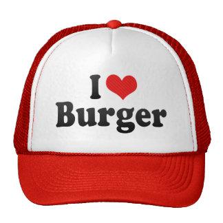 Amo la hamburguesa gorro