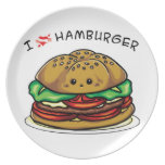 Amo la hamburguesa plato