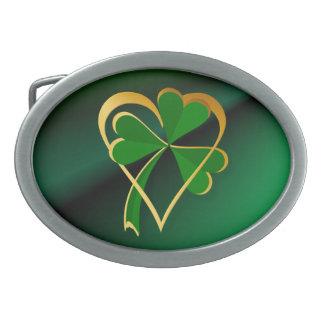 Amo la hebilla del cinturón de St Patrick Hebillas De Cinturon Ovales