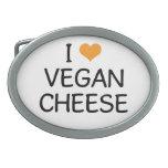 Amo la hebilla del cinturón del queso del vegano hebillas de cinturón ovales