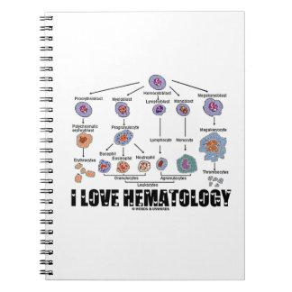 Amo la hematología (el linaje del glóbulo) libretas espirales