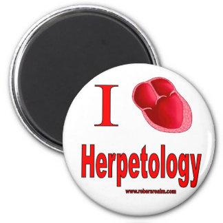 Amo la herpetología imán redondo 5 cm