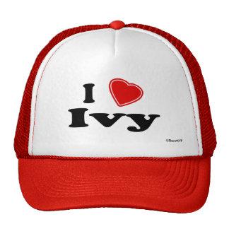 Amo la hiedra gorras