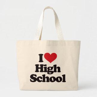 ¡Amo la High School secundaria! Bolsa Tela Grande